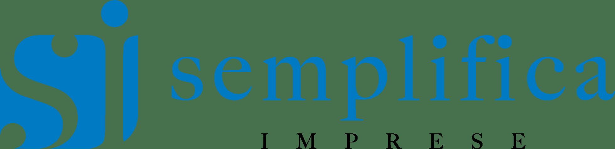 Semplifica Imprese Logo orizzontale azzurro